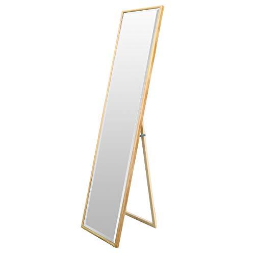 壁掛けもできる 姿見 鏡 木製 スタンドミラー