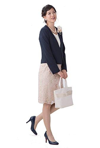 (ティセ)TISSE スーツ レディース 入園式 入学式 卒園式 卒業式 七五三 ビジネス レーススカート3点セットスーツ 【ブラウス付】 48-761028 (7号, ベージュ)