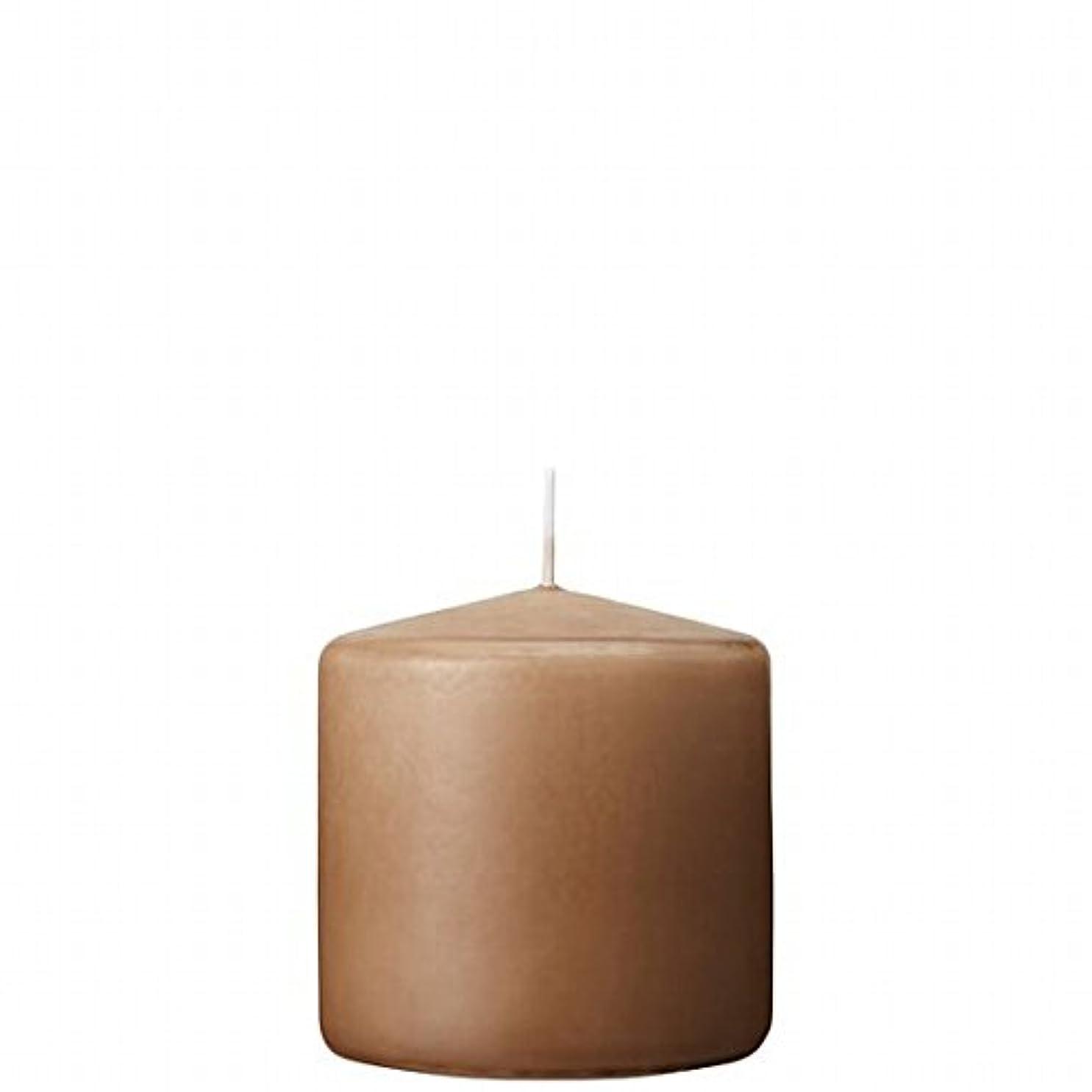 周り訪問変換するカメヤマキャンドル( kameyama candle ) 3×3ベルトップピラーキャンドル 「 モカ 」