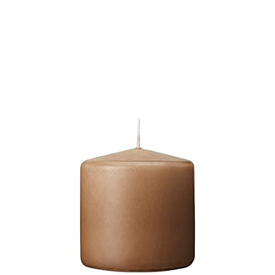 口述する不快なグリルカメヤマキャンドル( kameyama candle ) 3×3ベルトップピラーキャンドル 「 モカ 」