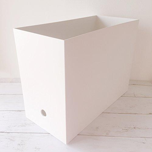 ポリプロピレン ファイルボックス スタンダードタイプ ワイド A4 ホワイト...