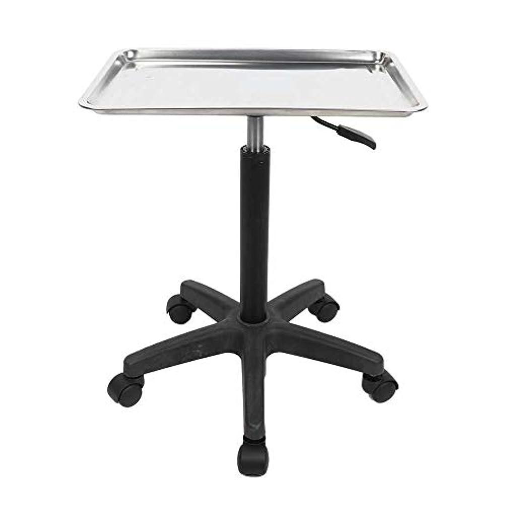 バング保証靄美容院の芸術のための多機能の調節可能なステンレス鋼の皿のトロリー(トレイ)
