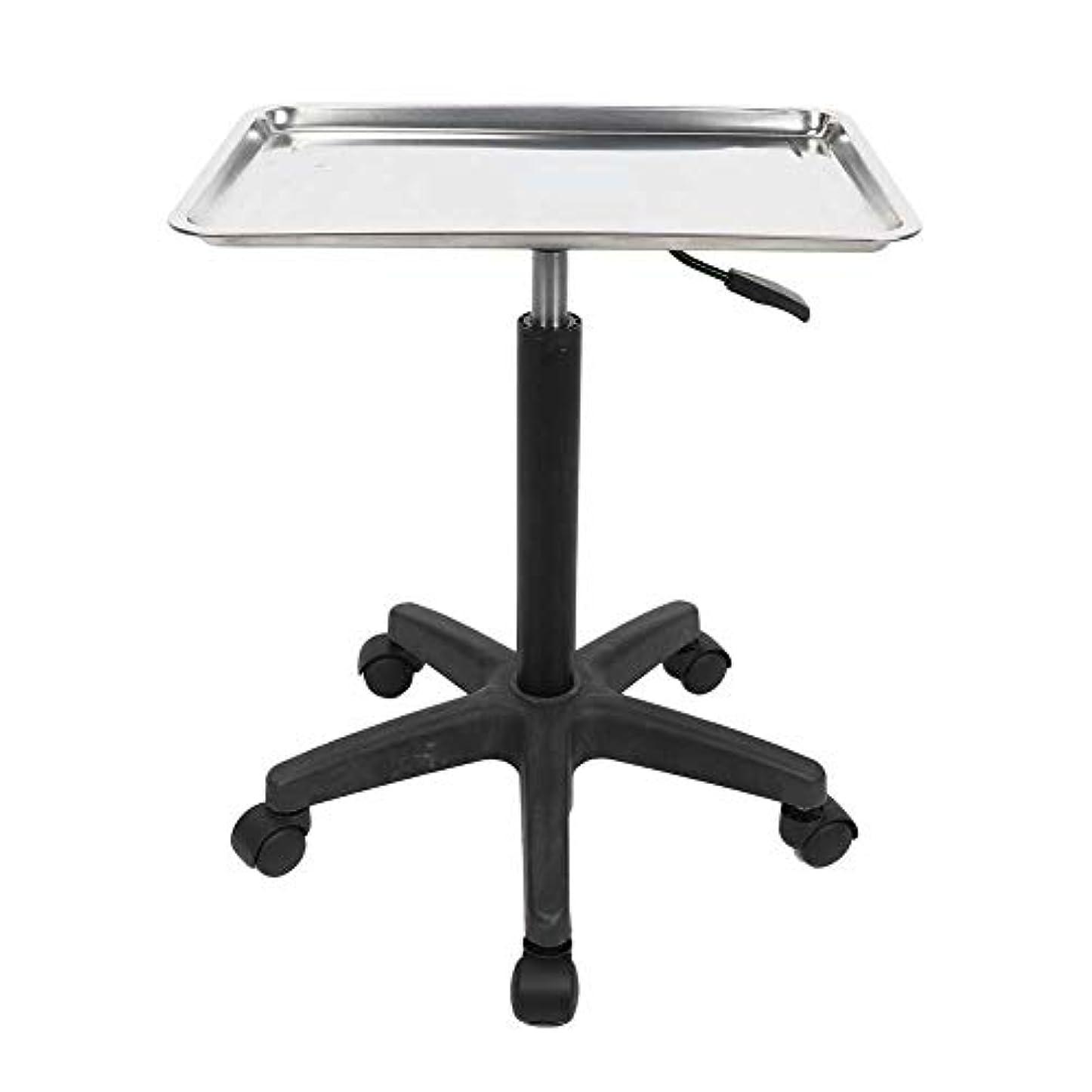 鉄クラフト着る美容院の芸術のための多機能の調節可能なステンレス鋼の皿のトロリー(トレイ)