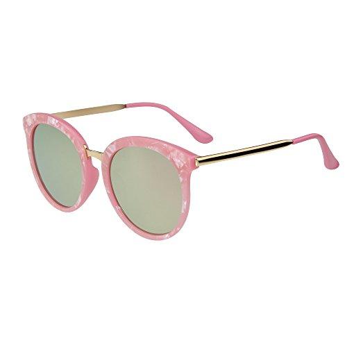 (レンサン) LianSanサングラス ビッグフレーム おしゃれ レディース メンズ 女性 男性 紫外線予防 uvカット ミラー 偏光レンズ ドライビング サングラス LSP503 ピンク