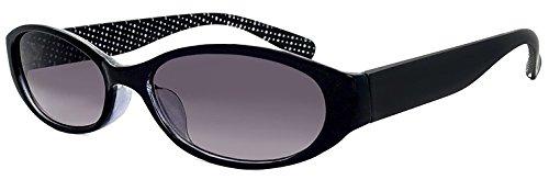 (PAGEBOY) サングラス py6363-1 ブラック オーバル型 レディース UVカット 紫外線対策 py6363 ページボーイ 女性用 ドット柄 水玉