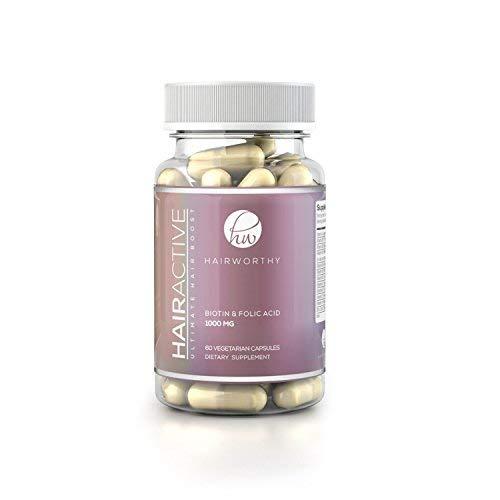 - Natural Hair Growth Vegan Vitamins | 即効性の Supplement for Longer, Stronger and Thicker Hair | 5000 mcg ビオチン Multivitamin for 髪、肌、爪 (6ヶ月)