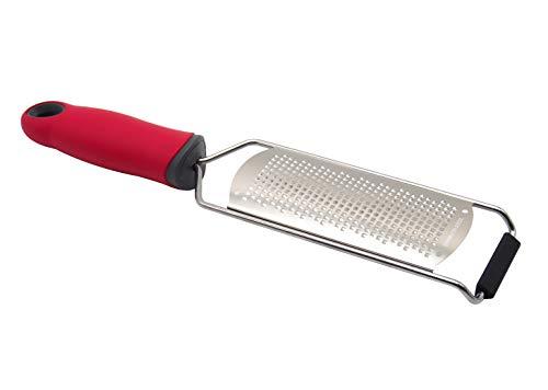チーズグレーター チーズおろし器 すり下ろす道具 ニンニク 生姜 大根おろし 擦る道具 皮 削り器 レモンゼスト用 千切り器 レッド