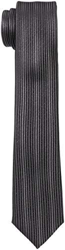 (ストララッジョ) Stra Raggio ネクタイ ナロータイ メタリック ストライプ 8018702617 FREE ブラック メンズ