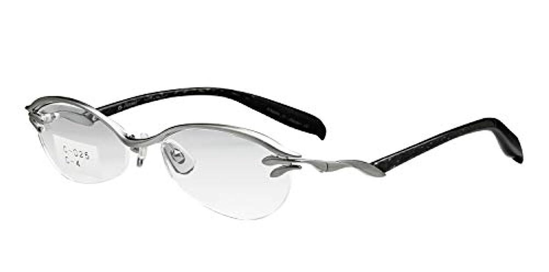 大人デンマーク語転送鯖江ワークス(SABAE WORKS) 老眼鏡 ブルーカット チタン シルバー C025C4 +2.50