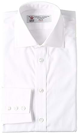 (ターンブル&アッサー) TURNBULL & ASSER コットンポプリン リージェントカラー ドレスシャツ MSHI053-Z1001 White ホワイト 14H