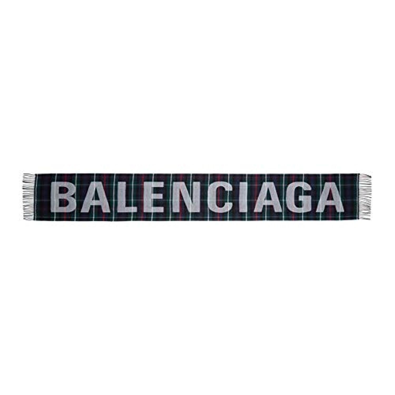 (バレンシアガ) Balenciaga レディース マフラー?スカーフ?ストール Multicolor Tartan Logo Scarf [並行輸入品]