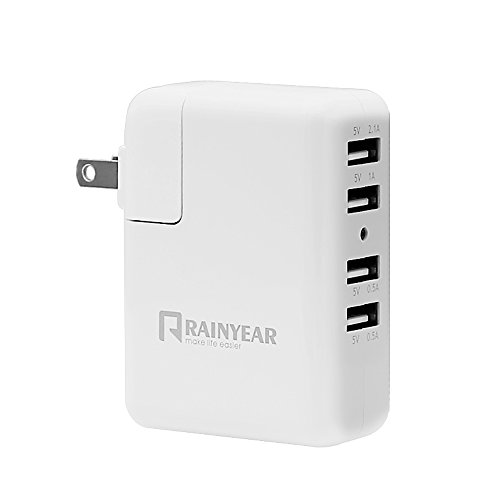 RAINYEAR 4.1A多ポートUSB充電器 携帯充電器 バッテリー充電器 iPhone Android モバイル充電器など機器対応