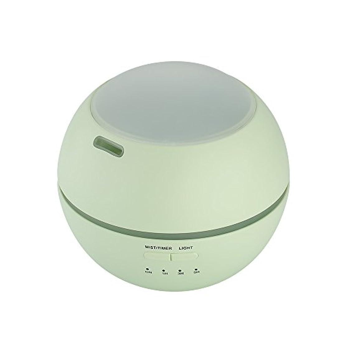かわいらしい良心的グリット超音波式 アロマディフューザー 卓上 加湿器 8色LEDライト変換 超静音 ミス調整可能 時間設定タイマー機能付き 空焚き防止機能搭載 アロマ加湿器 150mL by smartlife (グリーン)