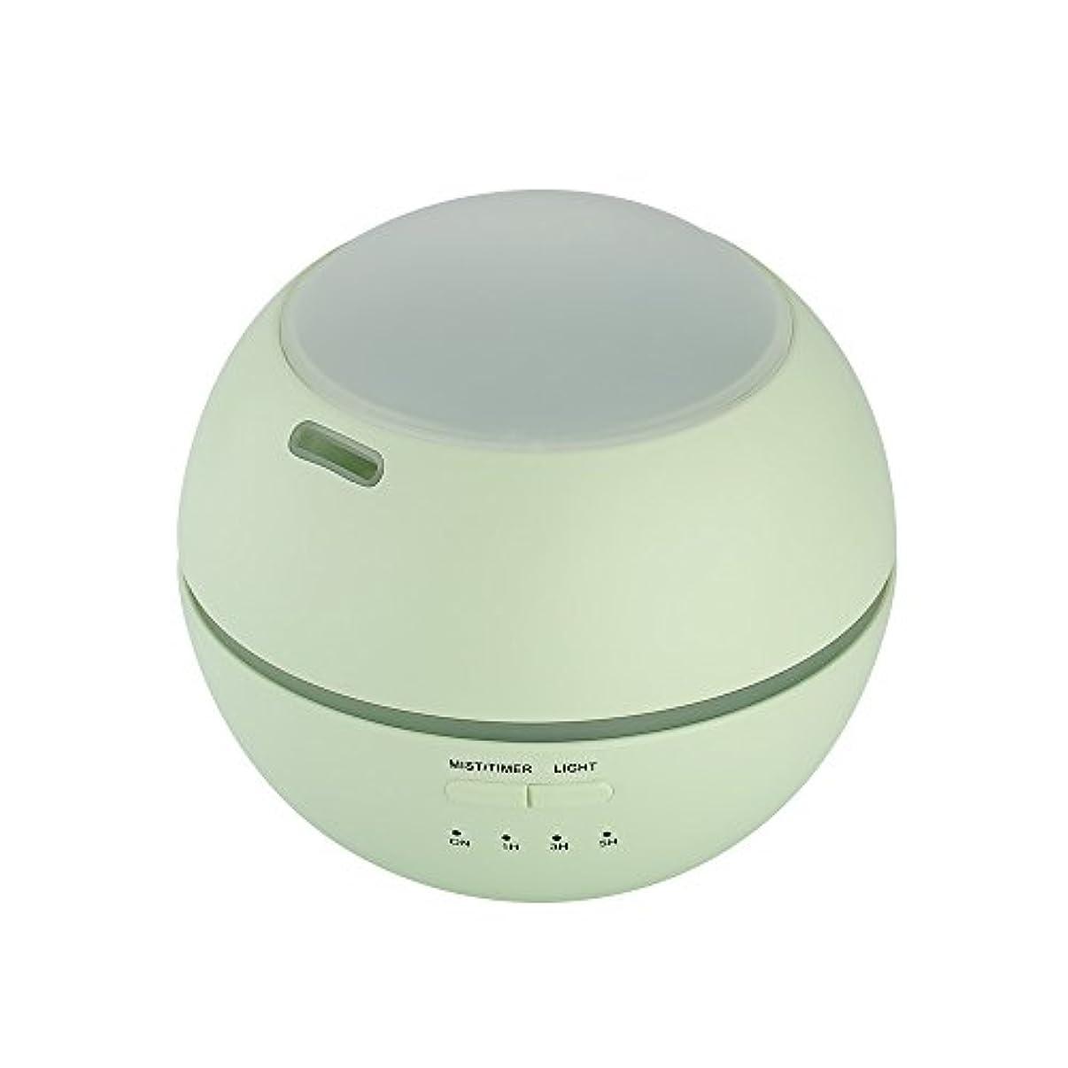 狐フォーカスようこそ超音波式 アロマディフューザー 卓上 加湿器 8色LEDライト変換 超静音 ミス調整可能 時間設定タイマー機能付き 空焚き防止機能搭載 アロマ加湿器 150mL by smartlife (グリーン)