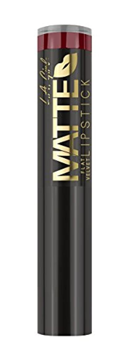 規模ホール愛するL.A. GIRL Matte Flat Velvet Lipstick Spicy (並行輸入品)