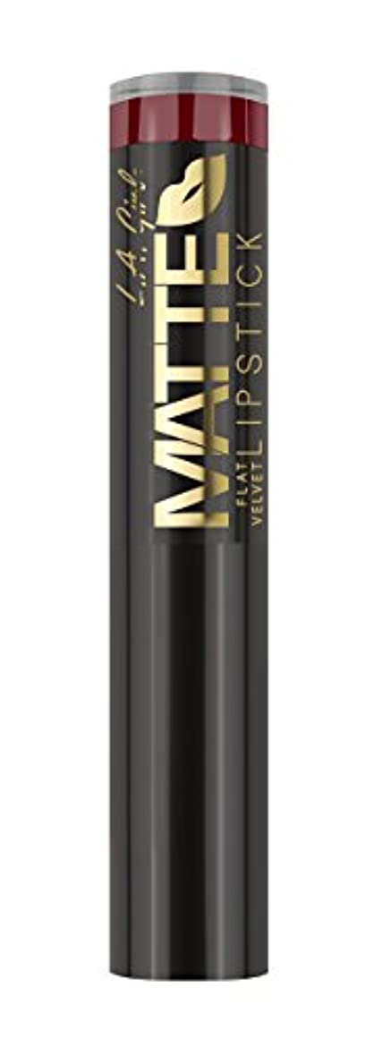 高く合理化送ったL.A. GIRL Matte Flat Velvet Lipstick Spicy (並行輸入品)