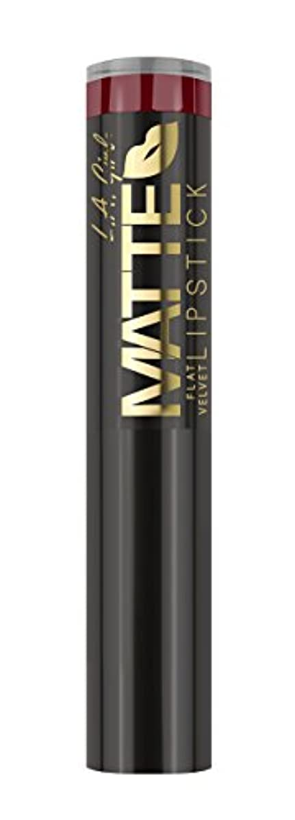 彼女自身ジェーンオースティンメダルL.A. GIRL Matte Flat Velvet Lipstick Spicy (並行輸入品)