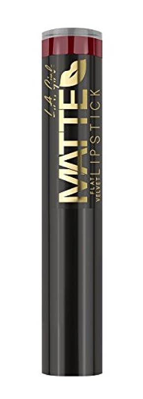食事甲虫発見L.A. GIRL Matte Flat Velvet Lipstick Spicy (並行輸入品)