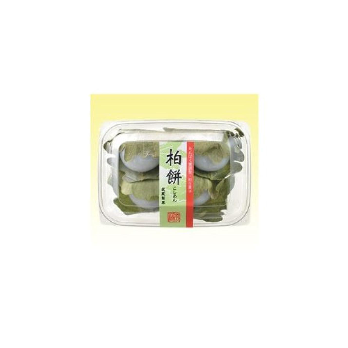 半ばかなりの手入れ【冷凍】たんぱく調整和菓子 柏餅(こしあん) 60g×4個