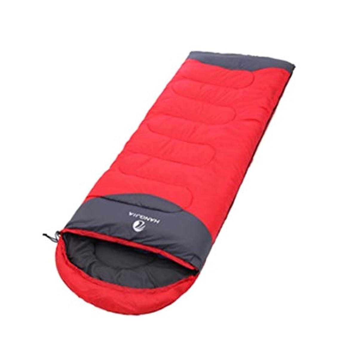 逆さまに領事館無実Madalena 3倍厚い寝袋屋外スーパーライトキャンプランチ休憩寝袋春、夏、秋と冬 (Color : Red)