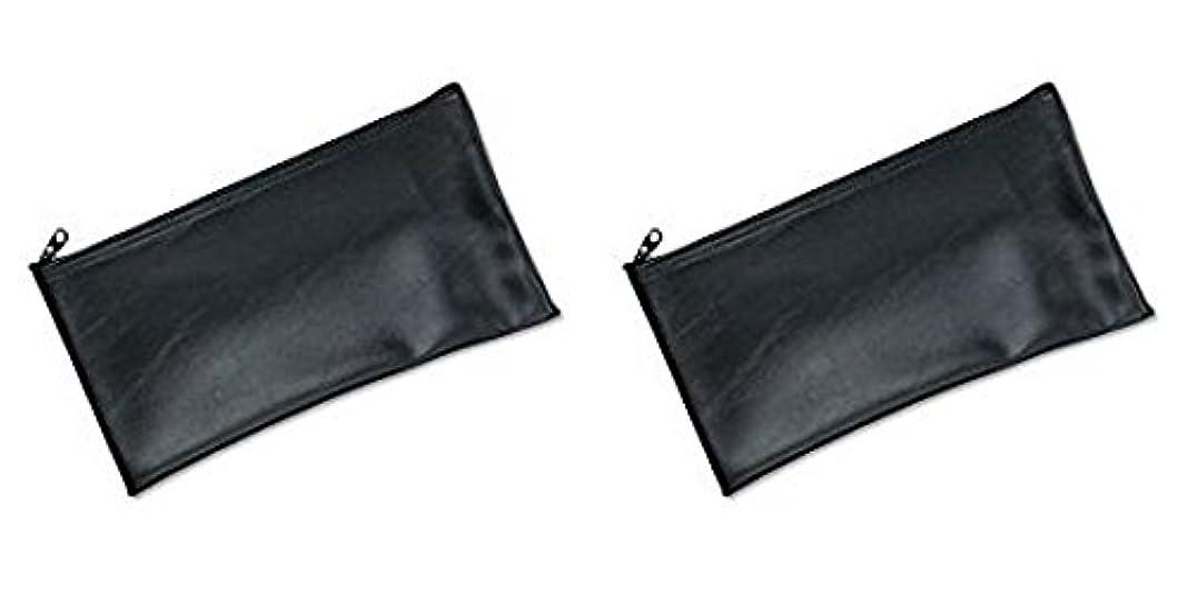 ハードウェアラウンジ寄り添うMMF Industries Leatherette Zipper Wallet, 11 x 6 Inches, Black (2340416W04), 2 Packs by MMF Industries