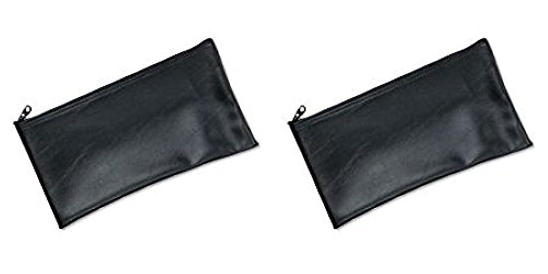 司教間に合わせに向かってMMF Industries Leatherette Zipper Wallet, 11 x 6 Inches, Black (2340416W04), 2 Packs by MMF Industries