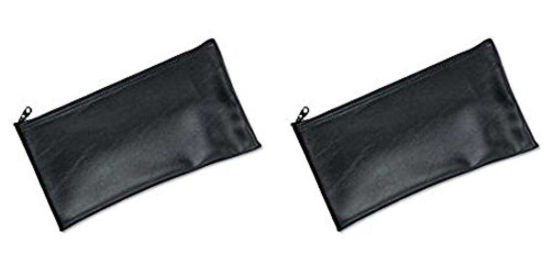 スズメバチママ敬意MMF Industries Leatherette Zipper Wallet, 11 x 6 Inches, Black (2340416W04), 2 Packs by MMF Industries