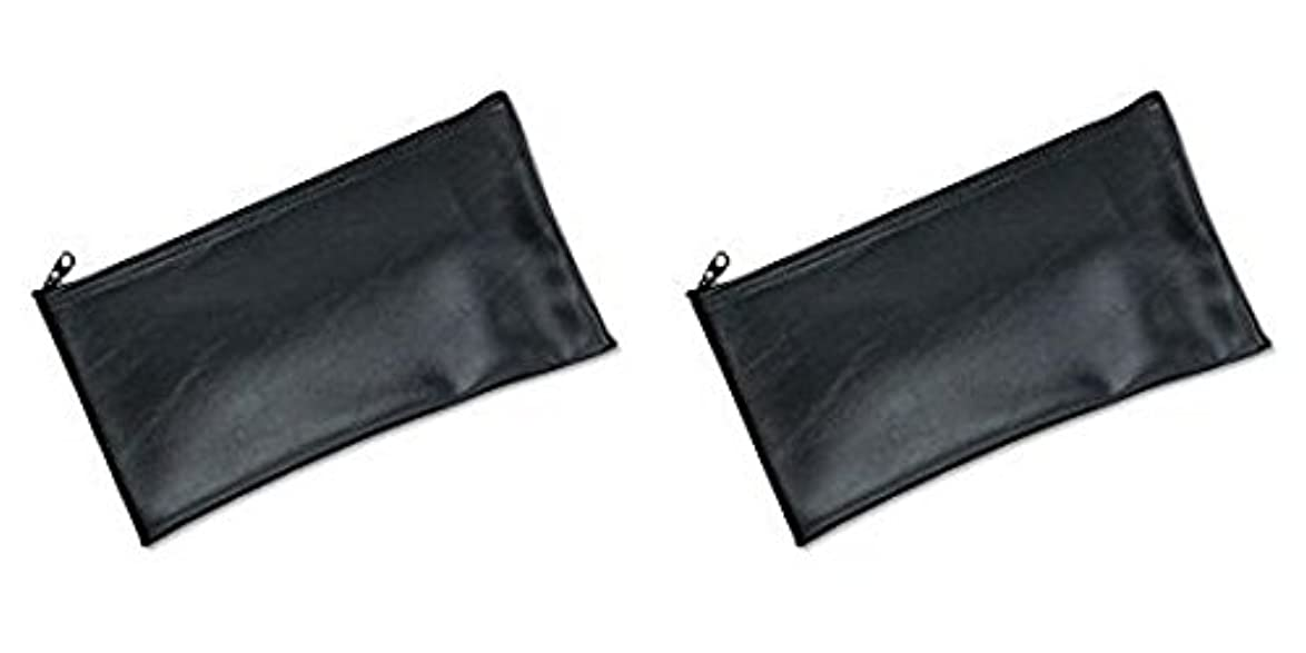 肯定的ポルティコ非常にMMF Industries Leatherette Zipper Wallet, 11 x 6 Inches, Black (2340416W04), 2 Packs by MMF Industries