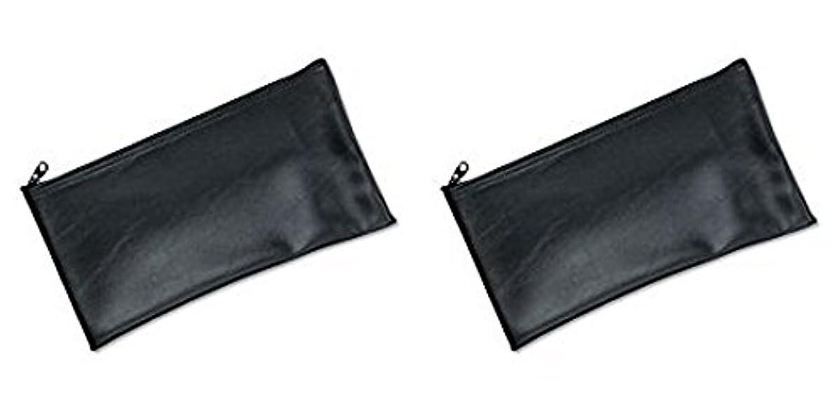 化石満州避難するMMF Industries Leatherette Zipper Wallet, 11 x 6 Inches, Black (2340416W04), 2 Packs by MMF Industries