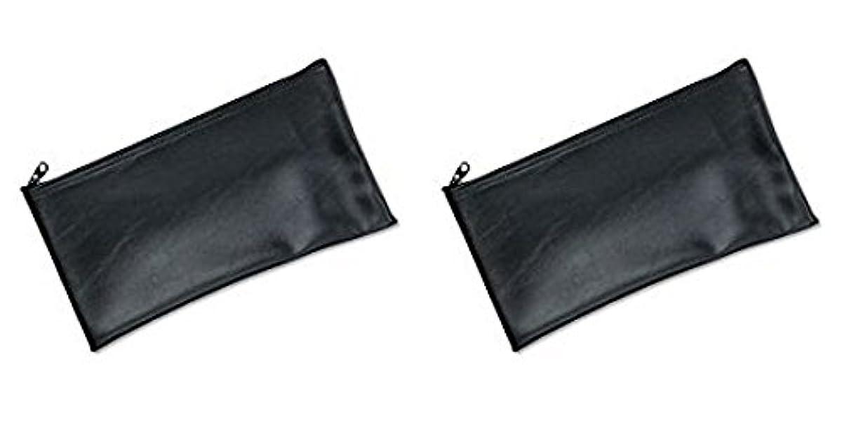 蓮ベーリング海峡歯痛MMF Industries Leatherette Zipper Wallet, 11 x 6 Inches, Black (2340416W04), 2 Packs by MMF Industries