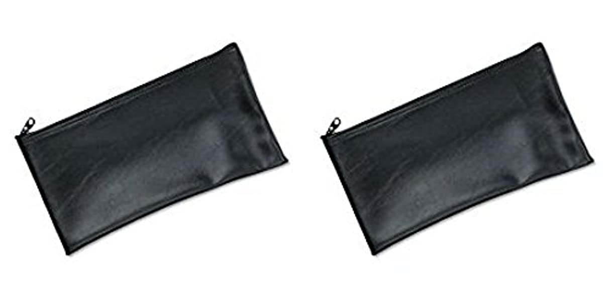 ドレスパンフレットロッドMMF Industries Leatherette Zipper Wallet, 11 x 6 Inches, Black (2340416W04), 2 Packs by MMF Industries