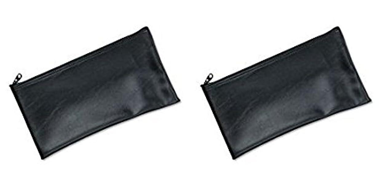 意識磨かれた無駄MMF Industries Leatherette Zipper Wallet, 11 x 6 Inches, Black (2340416W04), 2 Packs by MMF Industries