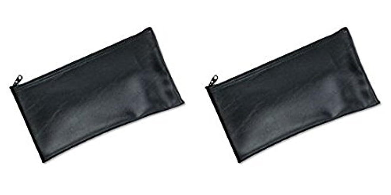 更新クッションパートナーMMF Industries Leatherette Zipper Wallet, 11 x 6 Inches, Black (2340416W04), 2 Packs by MMF Industries