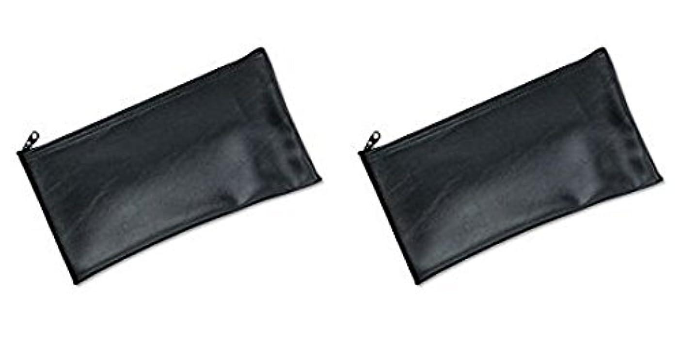 資本西ハーフMMF Industries Leatherette Zipper Wallet, 11 x 6 Inches, Black (2340416W04), 2 Packs by MMF Industries