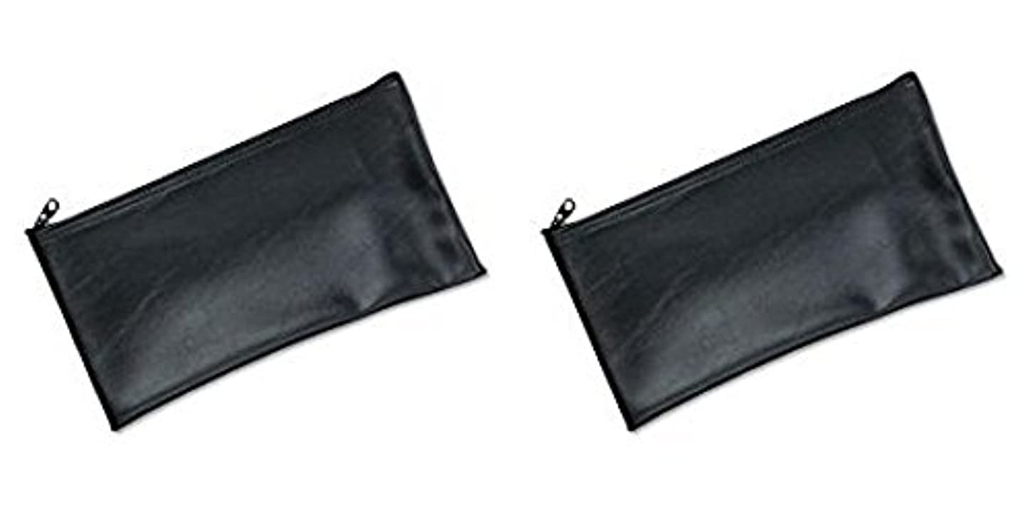 MMF Industries Leatherette Zipper Wallet, 11 x 6 Inches, Black (2340416W04), 2 Packs by MMF Industries
