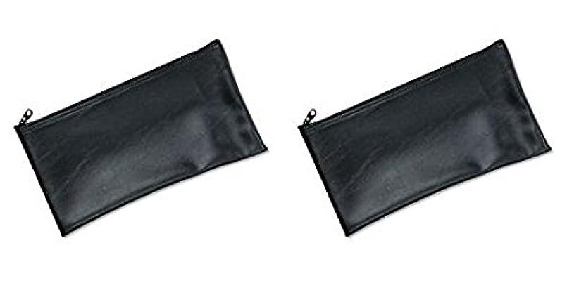 傾いた不屈死傷者MMF Industries Leatherette Zipper Wallet, 11 x 6 Inches, Black (2340416W04), 2 Packs by MMF Industries