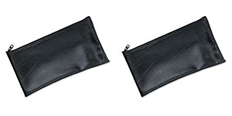 長方形地域の書店MMF Industries Leatherette Zipper Wallet, 11 x 6 Inches, Black (2340416W04), 2 Packs by MMF Industries