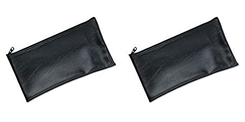 旅行者機知に富んだまともなMMF Industries Leatherette Zipper Wallet, 11 x 6 Inches, Black (2340416W04), 2 Packs by MMF Industries