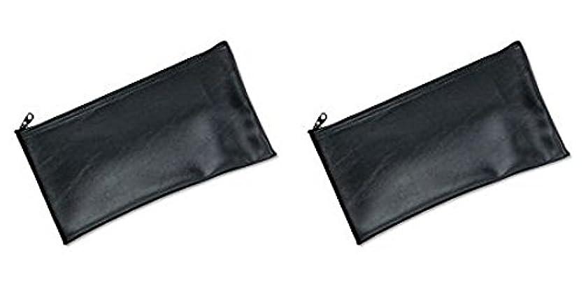 鳴り響く装備する振りかけるMMF Industries Leatherette Zipper Wallet, 11 x 6 Inches, Black (2340416W04), 2 Packs by MMF Industries