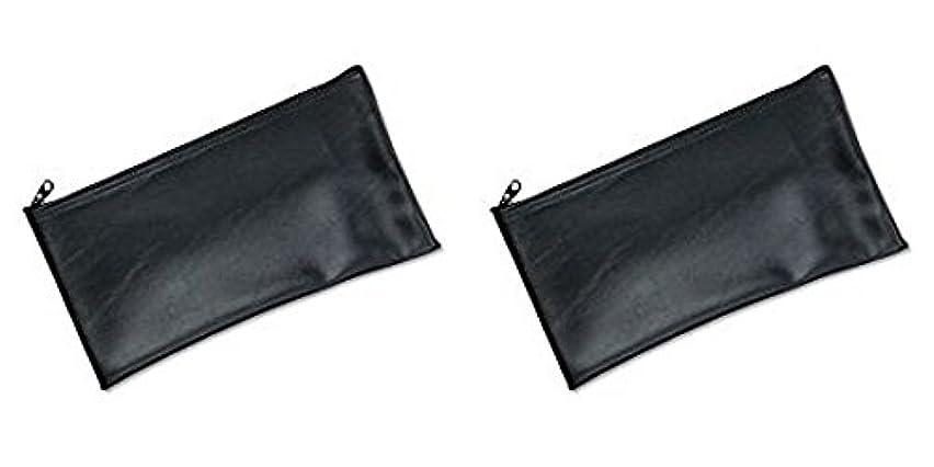 離す想定小人MMF Industries Leatherette Zipper Wallet, 11 x 6 Inches, Black (2340416W04), 2 Packs by MMF Industries