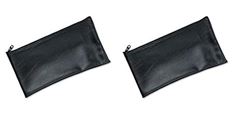 スポットいつ犬MMF Industries Leatherette Zipper Wallet, 11 x 6 Inches, Black (2340416W04), 2 Packs by MMF Industries