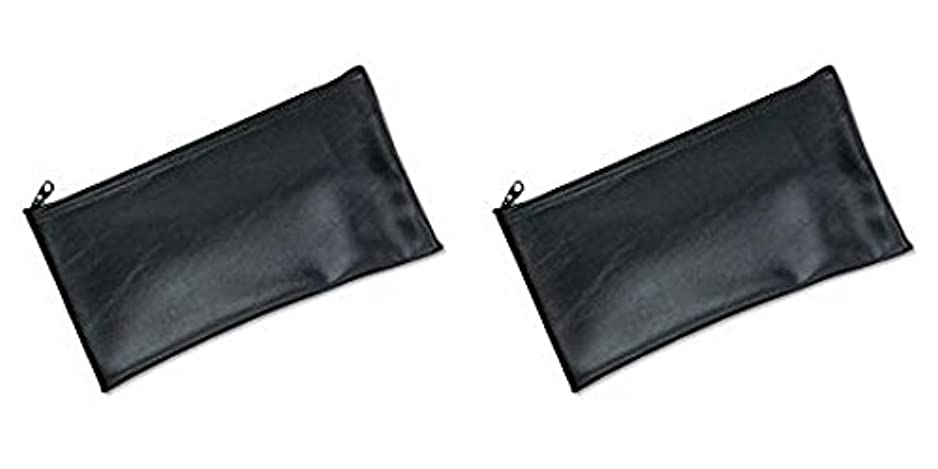 ボリューム洞察力バイオリニストMMF Industries Leatherette Zipper Wallet, 11 x 6 Inches, Black (2340416W04), 2 Packs by MMF Industries