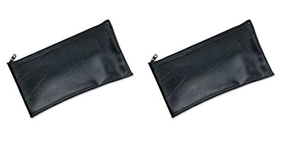 軍ジョイントかどうかMMF Industries Leatherette Zipper Wallet, 11 x 6 Inches, Black (2340416W04), 2 Packs by MMF Industries