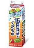 グリコ カロリーOFF 15種野菜&くだもの りんご&アセロラ 1000ml 12本