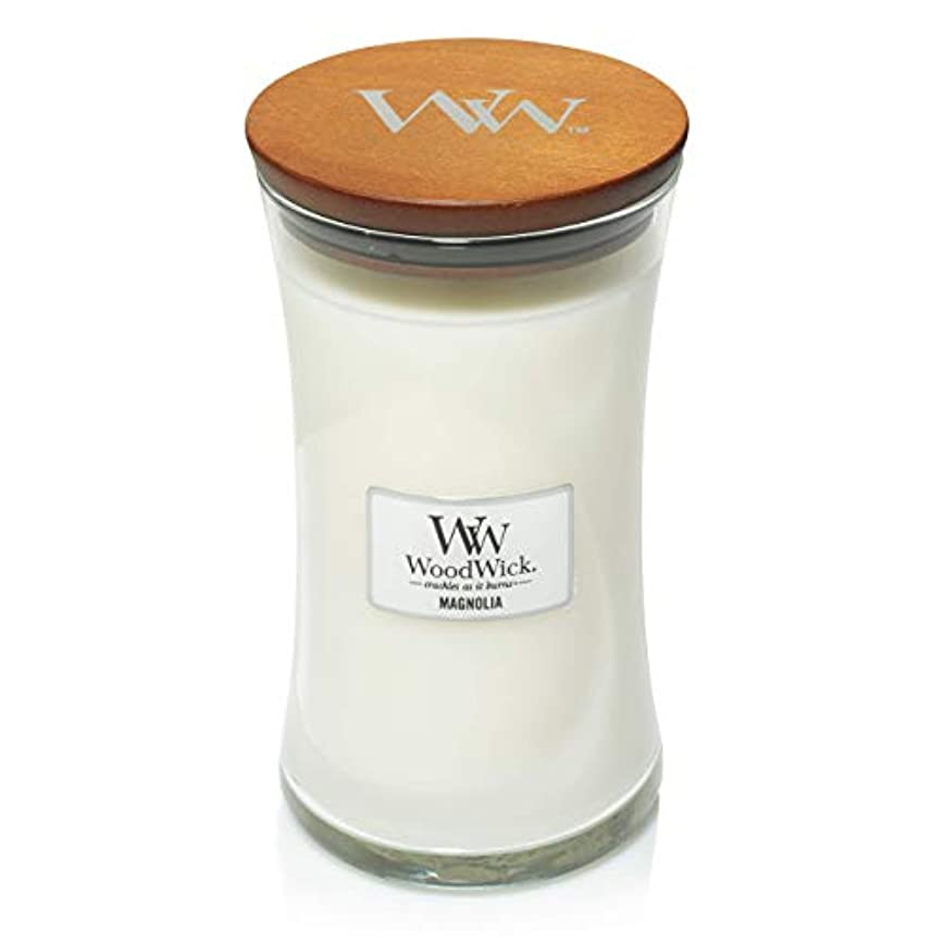 伝統できれば元のMAGNOLIA WoodWick 650ml Large Hourglass Jar Candle Burns 180 Hours