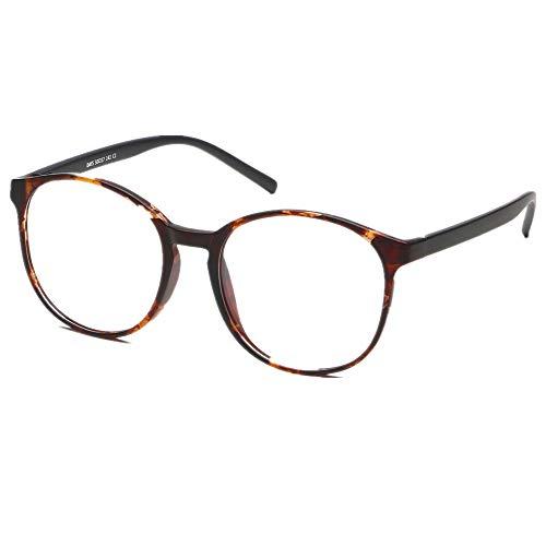 Corp LifeArt 青色光遮断メガネ、uv400透明レンズカット、眼精疲労防止/スクラッチ防止/汚れ防止 0.00(倍率なし)