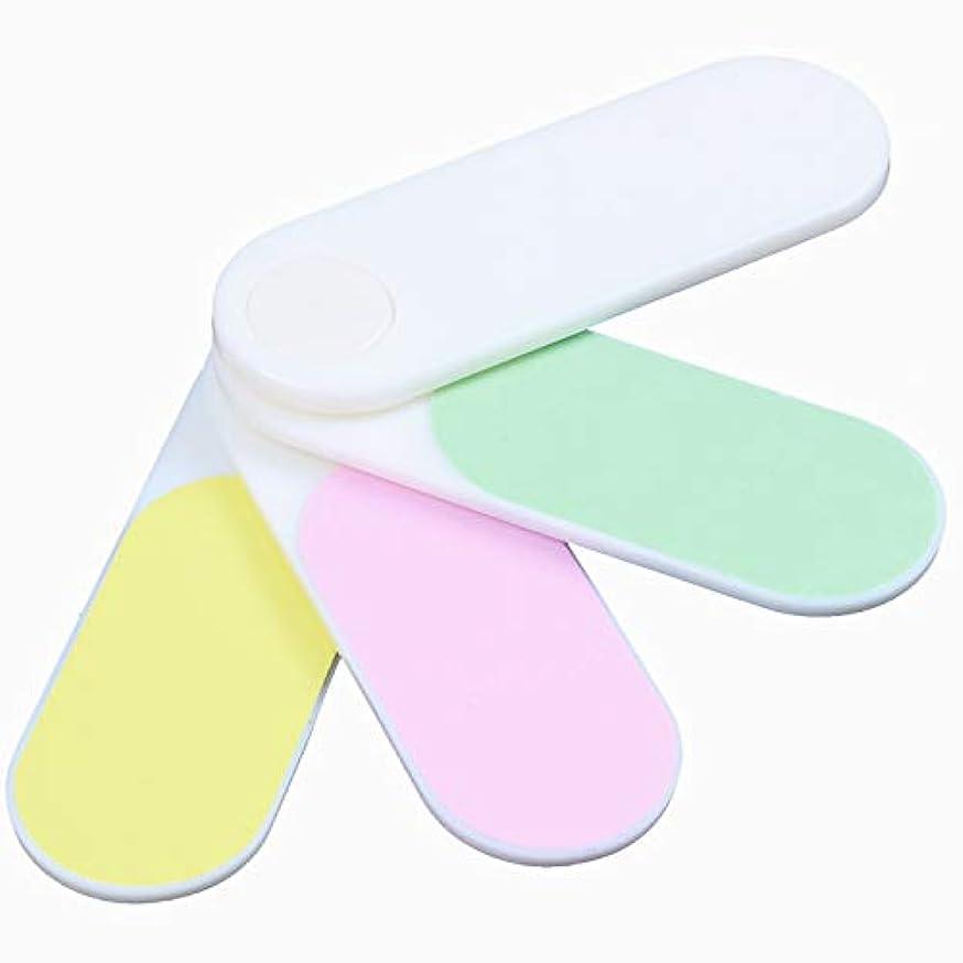 サンドイッチ官僚実験的Gaoominy 色付き折りたたみ式4ウェイシャインサンディングブロック ネイルファイルバッファ