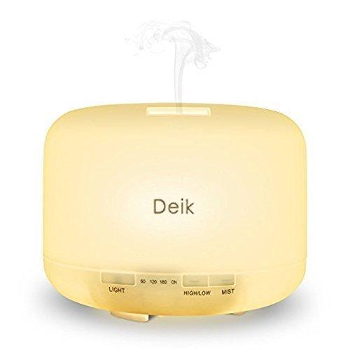 Deik アロマディフューザー 超音波式 加湿器 暖色系 大容量  ムードランプ 空焚き防止