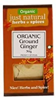 Just Natural Herbs Org Ginger Ground 30 g (order 6 for trade outer) / ただ天然ハーブ組織ジンジャーグラウンド30グラム(商品アウターため6 )