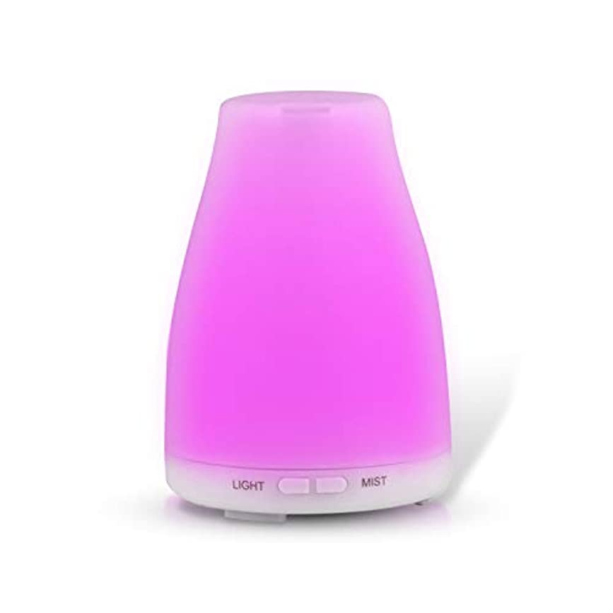 正確なあそこつま先Fashion·LIFE アロマディフューザー 静音 七色変換LEDライト アロマ加湿器 空気清浄機 空焚き防止 部屋 会社 ヨガなど用 100ML ホワイト